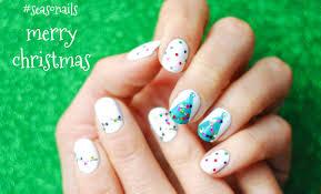 Christmas Light Nails String Glitter Christmas Nails Two Ways Seasonails