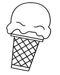 ice cream clipart black and white. Exellent Clipart Ice Cream Cone Clip Art Black And White Clipart Panda Free For R