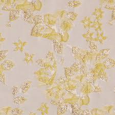 Floral Brocade Metallic Gold Yellow Floral Brocade