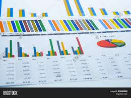 Charts Graphs Paper Image Photo Free Trial Bigstock