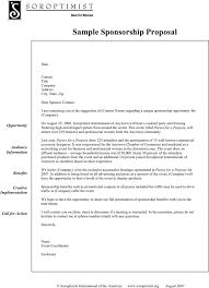 Free Sponsorship Proposal Template Pdf 89kb 1 Page S