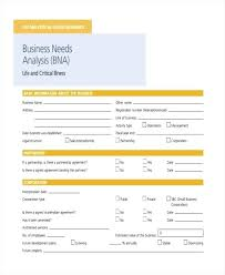 Sample Needs Analysis Best Small Business Analysis Template