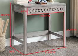 home office workstation. Gray Writing Desk Home Office Workstation