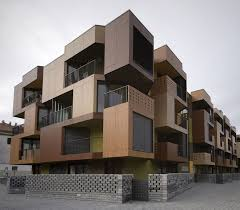 apartment building design. Beautiful Design Tetris Exterior Apartment Building Design Model Inside L