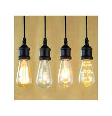 light socket i shape vintage retro bulb pendant lamp holder with hanging wire lights en w