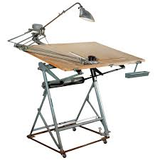 Isis Drafting Table With Original Components Modern Industrial