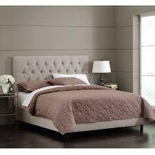 Shop Skyline Furniture Light Grey Velvet Tufted Bed - On Sale - Free ...