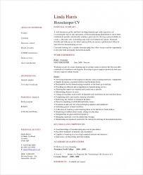 Housekeeping Sample Resume Impressive Free Download Sample Cool Best Housekeeper Resume