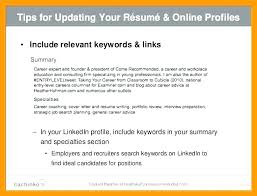 Resume Profile Summary Stunning Resume Profile Summary Sample Curriculum Vitae Personal Summary