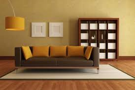Wall paint for brown furniture Sala The Orange Almost Umber Pillows And Lampshade Create Bridge Between This Muted Yellow Wall Home Guides Sfgate How To Use Yellow Paint With Brown Leather Sofas Home Guides Sf Gate