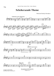 bassoon sheet music scheherazade theme part 3 cello or bassoon sheet music for piano