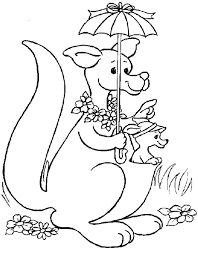 Small Picture Australian Animal Coloring Pages For Kids Kangaroo Animal