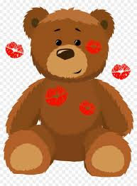 cute bear with kisses png clipart picture valentines bear clip art