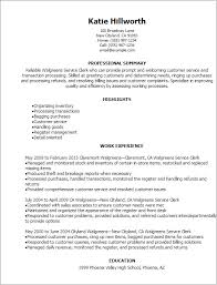 Resume Templates: Walgreens Service Clerk Resume