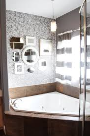 rockin roses damask stencil master bathroom makeover modern