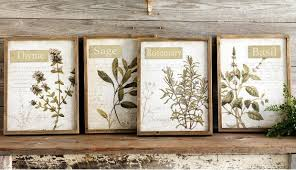 >framed herb wall art set of 4 antique farmhouse framed herb wall art set of 4