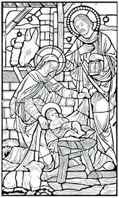 Stained Glass Coloring Pages Religious Raovat24hinfo