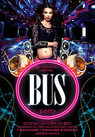new party season psd flyer templates graphicsfuel flyer party bus psd flyer template