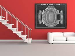 Print Of Vintage Ralph Wilson Stadium Seating Chart Seating