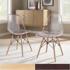 alvar clear seat dining chairs set of 2 inspire q modern