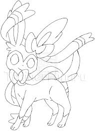 Small Picture Pokemon X And Y Coloring Pages Sylveon 43893 plaaco