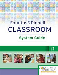 Fountas And Pinnell Where To Start Chart Fountas Pinnell Classroom System Guide Grade 1 1st
