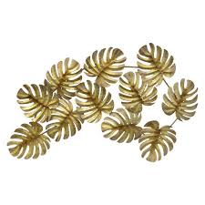 leaves wall d metal leaf wall decor amazing wall decoration