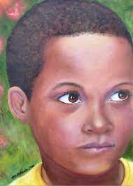 Caribe Child Painting by Merle Blair