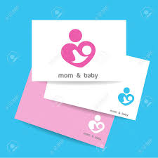 Mom And Baby Business Card Template Mothers Care Sign Royalty