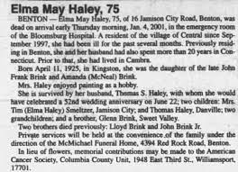 Obituary for Elma May Haley, 1925-2001 (Aged 75) - Newspapers.com