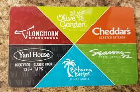 25 olive garden gift card longhorn cheddars