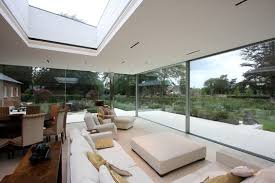Interior view looking out onto the garden through the floor-to-ceiling  sliding glass doors   Great Windows   Pinterest   Glass extension, Glass  doors and ...