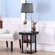 Floor Tables Brightech Store Madison Floor Lamp With Built In Two Tier Black