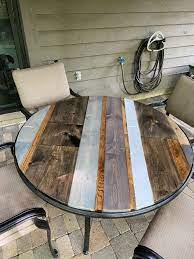 diy table top fixing a broken patio