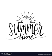 Hand Lettering Inspirational Poster Summer Time