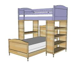 the bottom bunk sits perpendicular to the top the little details make this bunk a touch more girly but just as strong and even easier to build