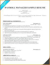 Payroll Accounting Job Description Payroll Accountant Resume Movementapp Io