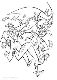 and joker coloring pages regarding book awesome quinn harley
