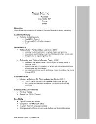 resume for scholarships