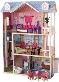 wooden barbie doll house furniture. Kidkraft-my-dreamy-dollhouse-with-furniture Wooden Barbie Doll House Furniture B