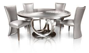 black and white kitchen table unique 66 round stainless steel metal dining table by oios metals