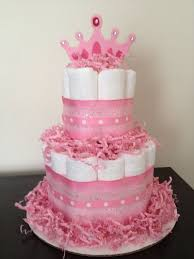 fresh design diaper cake for girl baby shower stylist and luxury