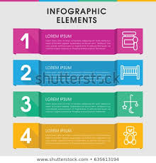 Modern Baby Infographic Template Infographic Design Stock Vector