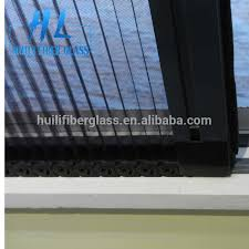 adjule invisible pp plisse insect door sliding pleated retractable fly screen