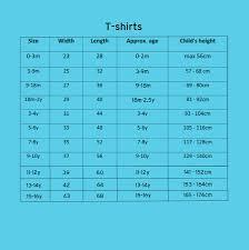 Child Tee Shirt Size Chart Rldm