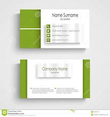 Green Card Template Modern Simple Green Business Card Template With User Profile Stock