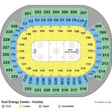 Xcel Center Hockey Seating Chart 62 Qualified Xcel Energy Center Seats