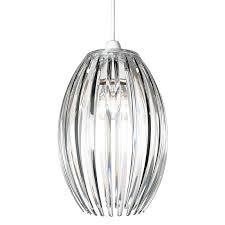 clear acrylic pendant lamp shade