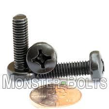 <b>M6 Phillips</b> Pan Head Machine Screws, Steel w Black Ox <b>Cross</b> ...