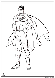Small Picture Superman Coloring Pages Printable 16